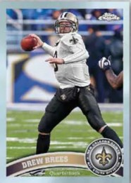 2011 Topps Chrome Football Drew Brees Base Card