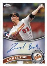 2011 Topps Chrome Zach Britton Autograph Variation #216