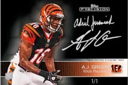 2011 Topps Precision A.J. Green Precision Ink 1/1 Autograph Card