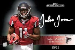 2011 Topps Precision Julio Jones White Ink Autograph Card