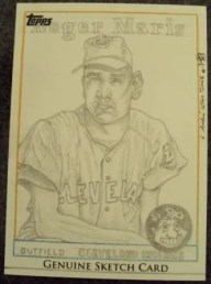 Roger Maris 2011 Topps Series 1 Sketch Card