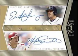 2011 Topps Tier One Evan Longoria Mike Schmidt Dual Autograph Card