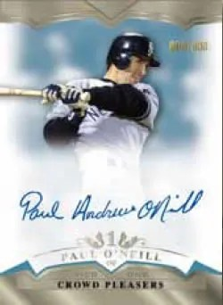 2011 Topps Tier 1 Baseball Paul O'Neill Crowd Pleasers Autograph Card