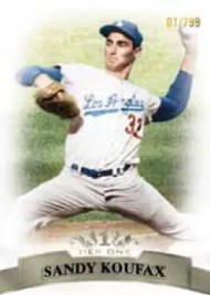 2011 Topps Tier 1 Sandy Koufax Base Card