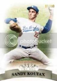 2011 Topps Tier 1 Sandy Koufax Base Card