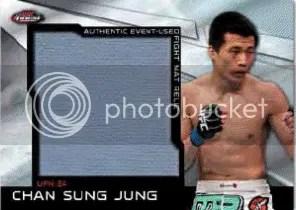2011 Topps Finest UFC Jumbo Mat Relic MR-CSJ Chan Sung Jung Card
