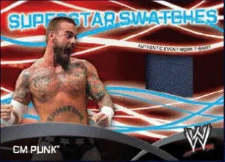 2011 Topps WWE Superstar Swatches CM Punk Relic Card