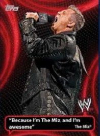2011 Topps WWE Catchy Phrases The Miz Insert Card