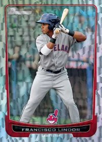 2012 Bowman Francisco Lindor Silver Ice Parallel