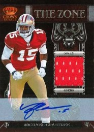 2011 Panini Crown Royale In The Zone Michael Crabtree Autograph Jersey Card