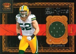 2011 Panini Crown Royale All-Pros Clay Matthews Jersey Card