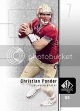 2011 Sp Authentic Chrisitan Ponder Base Card
