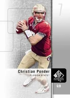 2011 Sp Authentic Chrisitan Ponder Base Card