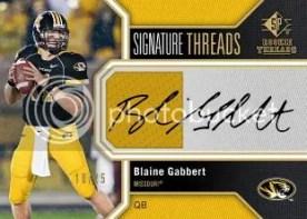 2011 UD Sp Authentic Blaine Gabbert Jersey Autograph