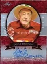 2012 Leaf Metal Poker Doyle Brunson Autograph Card