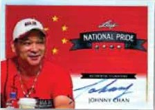 2012 Leaf Metal Poker National Pride Johnny Chan Autograph