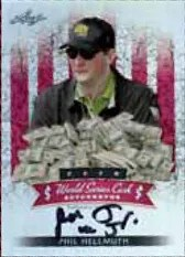 2012 Leaf Metal Poker World Series Cash Phil Hellmuth Jr. Autograph Card