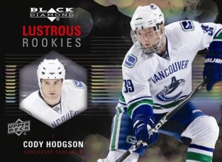 2011-12 Upper Deck Black Diamond Lustrous Rookies Cody Hodgson Card
