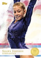 2012 Topps USA Olympics Shawn Johnson Gymnastics Card