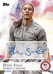 2012 Topps USA Olympics Hope Solo Autograph Card