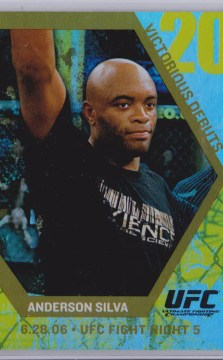 2009 Topps UFC Round 1 Victorious Debut Anderson Silva Gold Card
