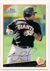 2011 Topps Lineage Pablo Sandoval Autograph