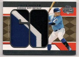 2011 Topps Lineage Billy Butler Jumbo Patch Relic Jersey /5