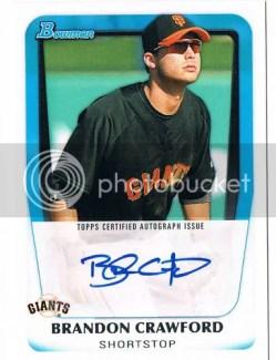 2011 Bowman Brandon Crawford Autograph