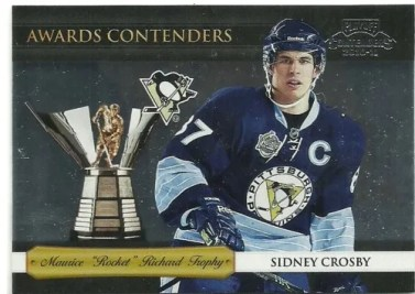 2010-11 Playoff Contenders Hockey Awards Sidney Crosby Card