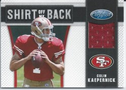 2011 Panini Certified Colin Kaepernick Jersey Shirt off my back