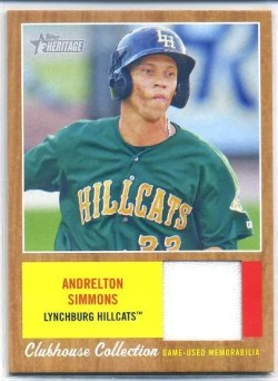2011 Topps Heritage Minor League Andrelton Simmons Jersey Card