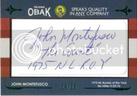 2011 TriStar Obak John Montefusco Cut Autograph Signature