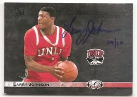 2011 UD All-Time Greats Larry Johnson Illustrious Signatures
