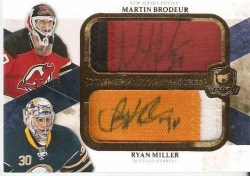 10-11 The Cup Dual Scripted Swatches Ryan Miller Martin Brodeur