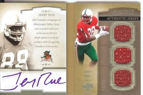 2010 Exquisite Jerry Rice Auto-Biography Book Card Autograph