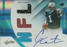 2011 Panini Absolute Cam Newton RPM Autograph ROOKIE RC