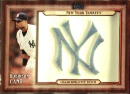 2011 Topps Series 2 Robinson Cano Commemorative Patch NY
