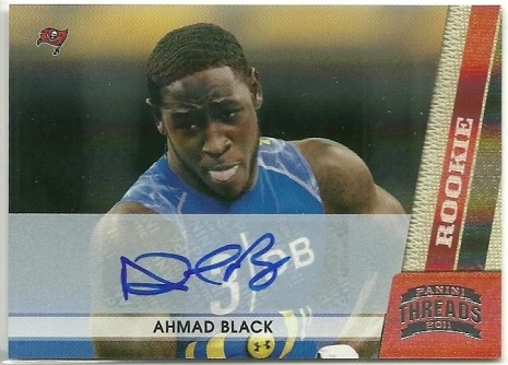 2011 Panini Threads Ahmad Black Autograph RC Card