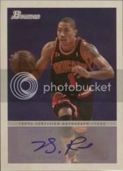 2009-10 Bowman Derrick Rose Autograph
