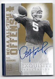 2010 Exquisite Paul Hornung NCAA Offense Autograph All-Time