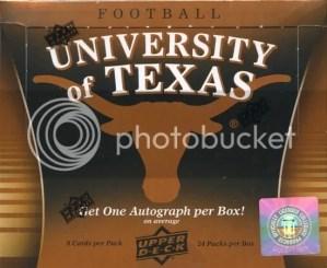 2011 Upper Deck University of Texas Longhorns NCAA Football Box