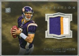 2011 Topps Inception Christian Ponder Patch Rookie