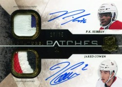 10-11 UD The Cup Dual Signature Patches Subban/Cowen /35