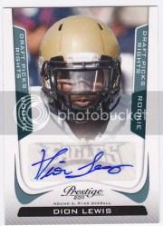 2011 Prestige Dion Lewis Autograph Rookie RC Card