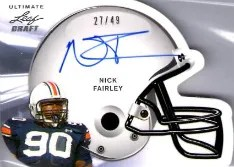 2011 Leaf Ultimate Nick Fairley Helmet Autograph