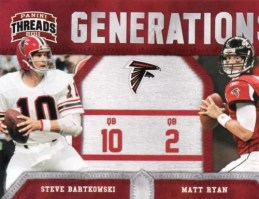 2011 Panini Threads Generations Steve Bartkowski & Matt Ryan Card