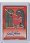 2011 Topps Update Series Julio Teheran Next 60 Autograph Card
