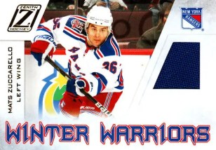 2010-11 Zenith Mats Zuccarello Winter Warriors Jersey Card