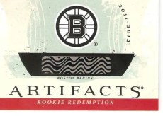 2011-12 UD Artifacts Boston Bruins Redemption Autograph Rookie