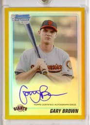 Gary Brown 2010 Bowman Chrome AUTO GOLD REF RC /50